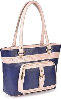 Fristo Blue and Pink Women Handbag