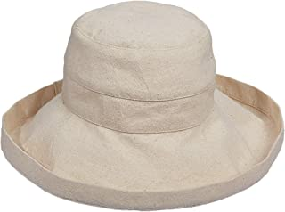 Women's Cotton Hat with Inner Drawstring and Upf 50+ Rating