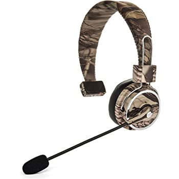Blue Tiger Elite Premium Wireless Bluetooth Headset – Professional Truckers' Noise Cancellation Head Set with Microphone – Clear Sound, Long Battery Life, No Wires - 34 Hour Talk Time - Tree Camo