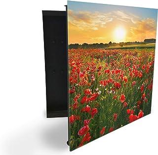 GlassArtist 85611887 Boîte à clés avec façade en Verre magnétique 30 x 30 cm