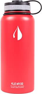UHOHO Bottle - 32 Oz Stainless Steel Water Bottle - Double Wall Vacuum Insulated (Red)