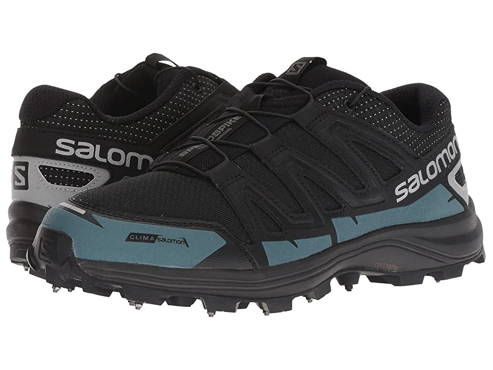 Salomon Speedspike CS (Black/Reflective Silver/Mallard Blue) Shoes