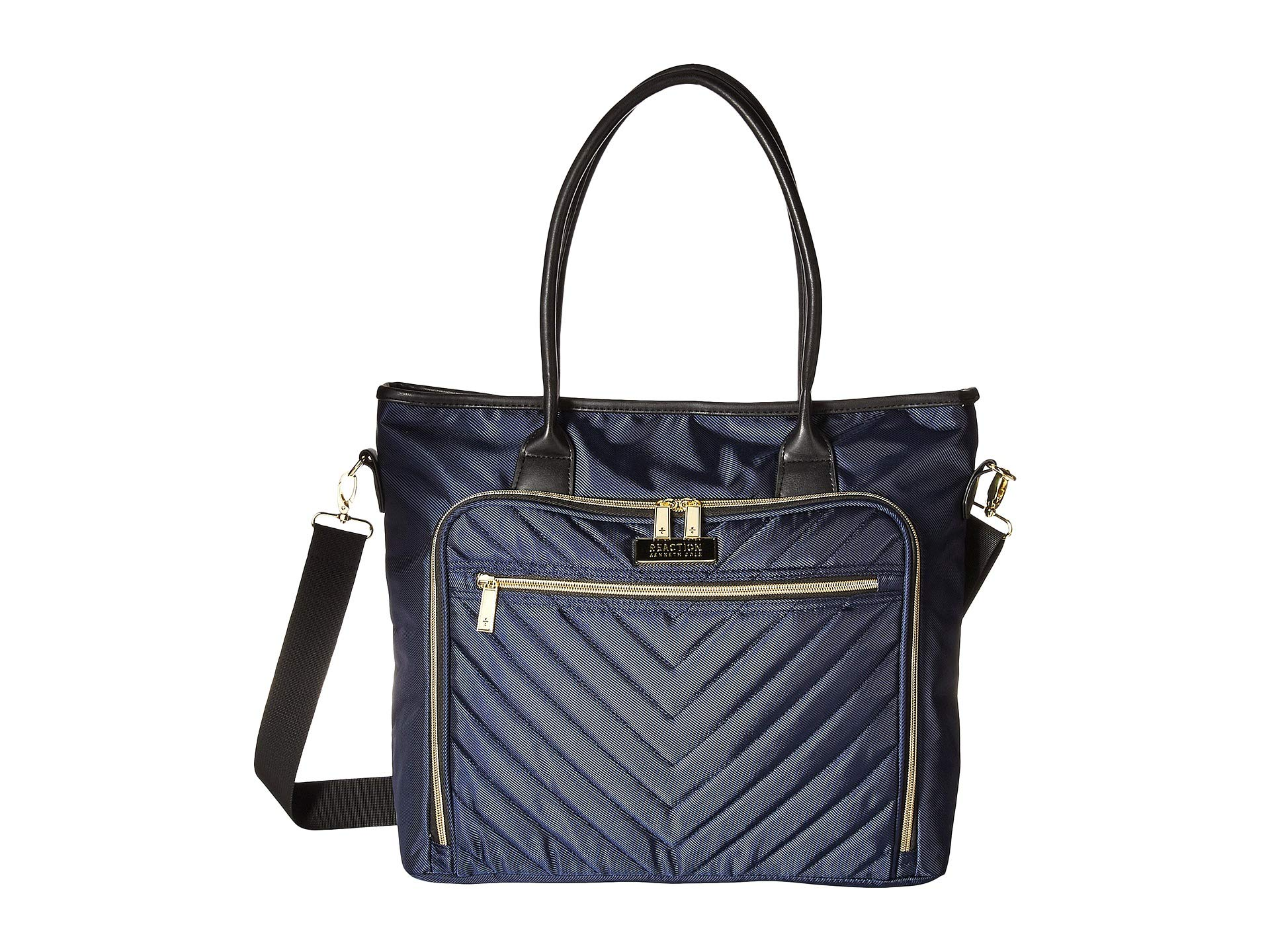 Polyester Twill Tote Navy Cole Chevron Reaction Kenneth 1Pn4xgx