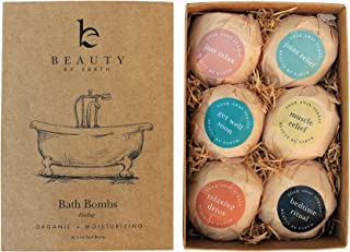 Bath Bombs Gift Set - 6 Large with Organic Shea Butter, Made in USA, Best Christmas & Birthday Gifts for Wo...