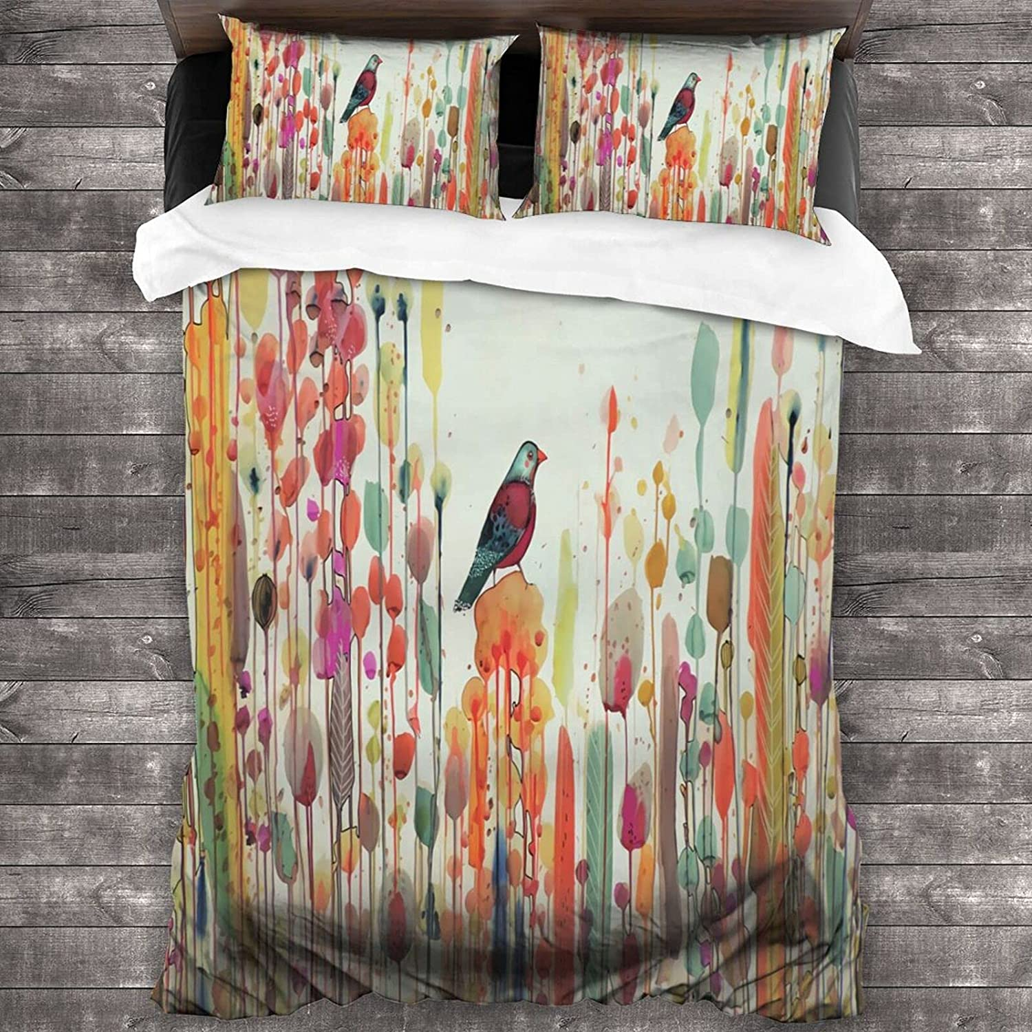 YANGDADA Outlet ☆ Free Shipping Vintage Watercolor Floral Bird 100% quality warranty! Novelty Bedding Cove Set