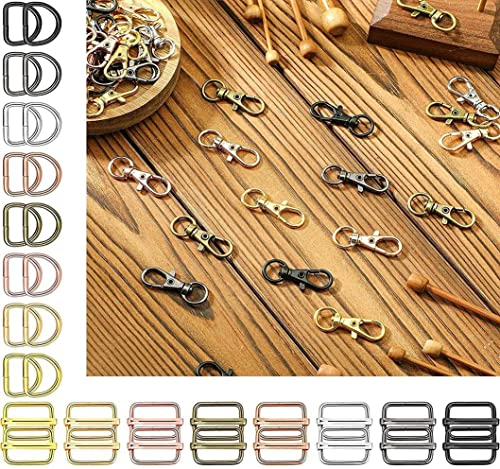 DIY DIYC 10089 Crafts 1 inch Round Swivel Snap Hooks and Round Rings Metal Swivel Lanyard Snap Round Hook Slide Buckle for Bags Wallets Luggage Supplies 1 inch 1 Pc D Ring Antique Silver