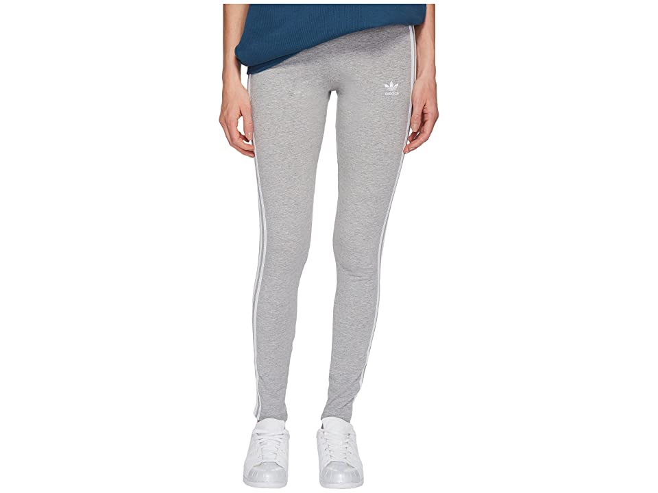 adidas Originals 3 Stripes Tights (Medium Grey Heather) Women