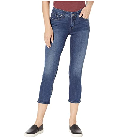Silver Jeans Co. Elyse Mid-Rise Curvy Fit Capri Jeans in Indigo L43002SPR459 (Indigo) Women