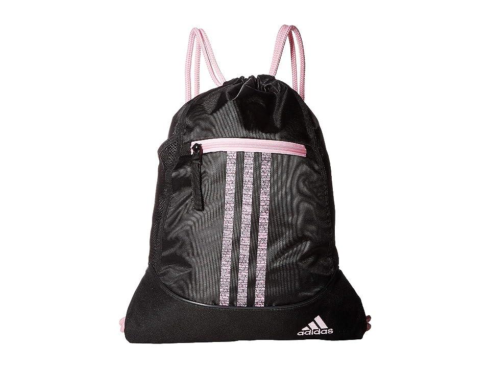 96143b89f45 adidas Alliance II Sackpack (Black True Pink Jersey Fleck True Pink)  Backpack