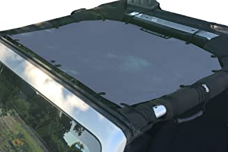 Alien Sunshade Jeep Sunshade Mesh Top Jeep Wrangler 2-Door JK 4-Door JKU 2007-2018 - 10 Year Warranty Front Jeep Top Steel Blue