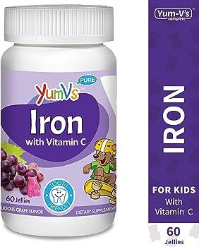 60-Count YUM-V's Grape Flavor Chewables Iron Jellies/Gummy Bears