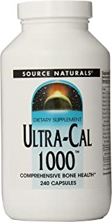 Source Naturals Ultra-Cal 1000, Comprehensive Bone Health, 240 Capsules