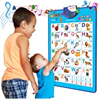 Just Smarty Electronic Educational Interactive Alphabet Wall Chart, Talking ABC & 123s & Music Poster