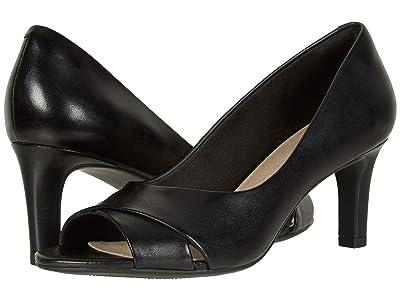 Clarks Alice Fern (Black Leather) Women