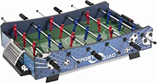 Sport Squad FX40 40 inch Table Top Foosball Table for Adults and Kids - Compact Mini Tabletop Soccer Game - Portable Recreational Hand Soccer for Game Room & Family Game Night
