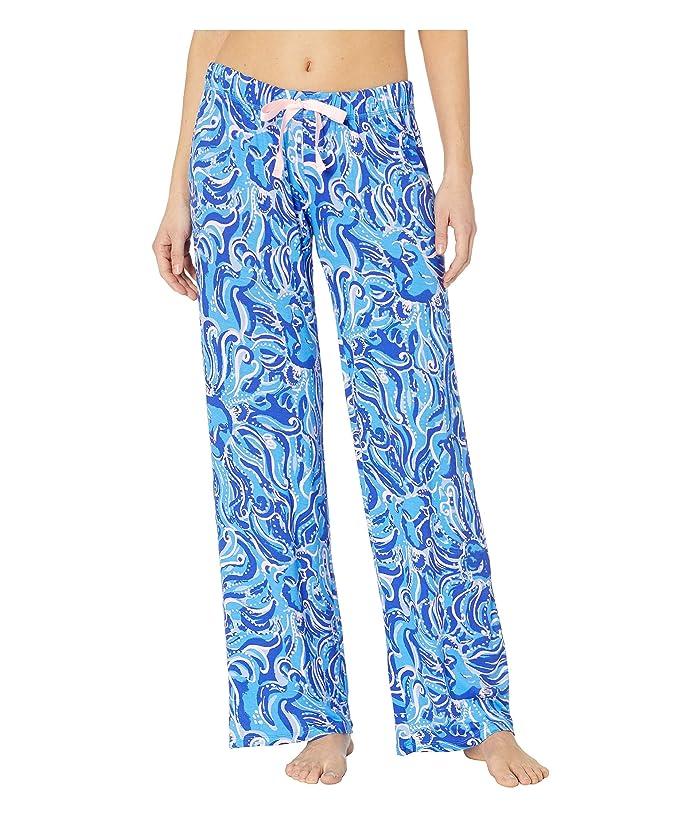 Lilly Pulitzer PJ Knit Pants (Coastal Blue Whispurr) Women