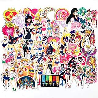 DOFE 75 PCS Sailor Moon Stickers,Laptop Stickers, Lovely Laptop Stickers,Motorcycle Bicycle Luggage Decal Graffiti Patches for Teens (75 PCS Sailor Moon Stickers)