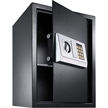 TecTake Caja Fuerte electrónica Pared Safe Caja de Seguridad Mini Hotel Seguro + Llave (50x35x34.5cm | No. 400566): Amazon.es: Hogar
