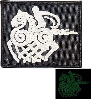 Sleipnir Horse Odin God Norse Asgard Viking Valhalla モラール タクティカル エンブロイダリー ベルクロ面ファスナー パッチ Patch