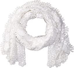 Sequin Scallped Edge Crochet Evening Wrap