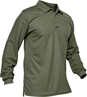 Men's Outdoor Performance Long and Short Sleeve Tactical Polo Shirt Pique Jersey Golf Polo Shirt