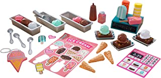 KidKraft 53539 Ice Cream Shop Playset with Wooden Ice Cream Toys, 20+ Pieces Included