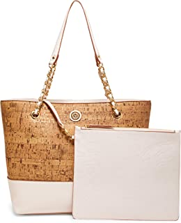 Cork Chain Tote with Pouch, Gardenia
