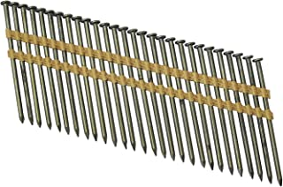 Grip Rite Prime Guard GR034HG1M 21 Degree Plastic Strip Round Head Exterior Galvanized Collated Framing Nails, 3-1/4