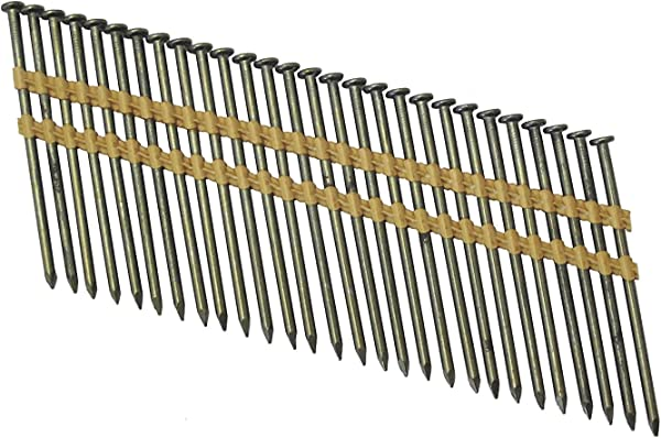Grip Rite Prime Guard GR034HG1M 21 Degree Plastic Strip Round Head Exterior Galvanized Collated Framing Nails 3 1 4 X 0 131
