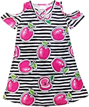 So Sydney Toddler & Girls Apple Back to School Collection Skirt Set, Dress or Outfit