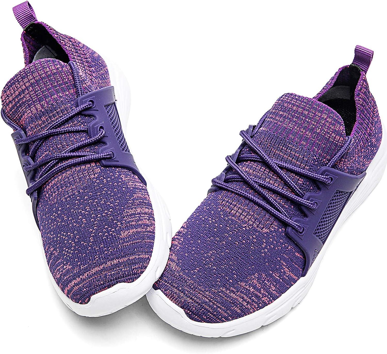 Tvtaop Kids Boys Girls Running Shoes Comfortable Lightweight Slip on Sneakers Athletic Tennis Shoes(Toddler/Little Kid)
