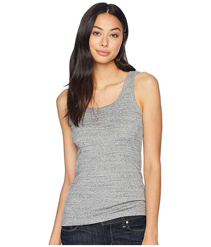Splendid  1x1 Classic Tank Top (Gravel Heather Grey) Womens Sleeveless