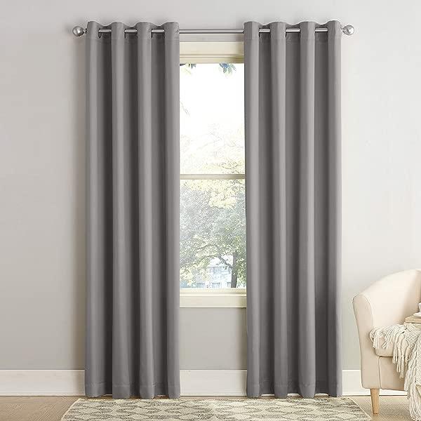 Sun Zero Barrow Energy Efficient Grommet Curtain Panel 54 X 84 Gray