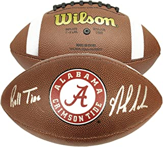 Nick Saban Autographed Signed NCAA Wilson Logo Football W/Roll Tide Inscription - PSA/DNA Certified Authentic