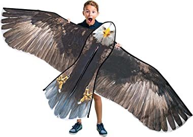 """JEKOSEN 70"""" Bald Eagle Huge Kite for Kids and Adults Single Line String Easy to Fly for Beach Trip Park Family Outdoor Games"""
