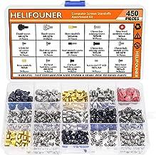 HELIFOUNER 450 قطعه کامپیوتر Standoffs Spacer Scacs Assortment Kit برای هارد دیسک کامپیوتر مادربرد مادربرد Fan Power Graphics