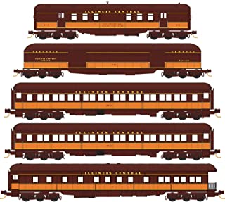 Micro-Trains MTL N-Scale Illinois Central/IC Heavyweight Passenger Cars 5-Pack