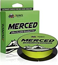 RUNCL Braided Fishing Line Merced, Braided Line 4/8 Strands - Proprietary Weaving Tech, Thin-Coating Tech, Exceptional Str...