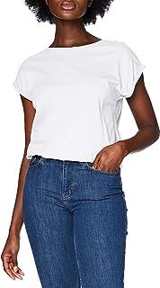 Urban Classics Ladies Extended Shoulder Tee Maglietta a Maniche Corte, T-Shirt Oversize con Spalle Scoperte, 100% Cotone J...