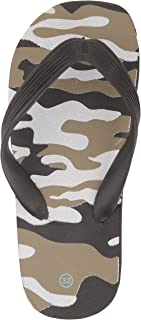 Yellow Bee Camouflage Slippers for Boys, Black