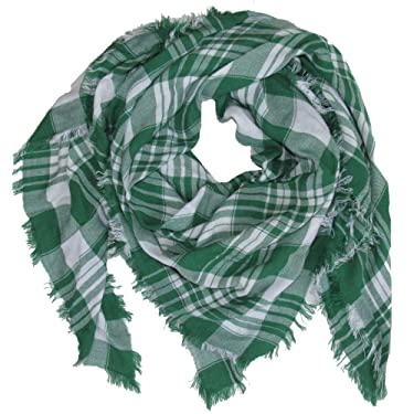 Tickled Pink womens Square Plaid Scarf