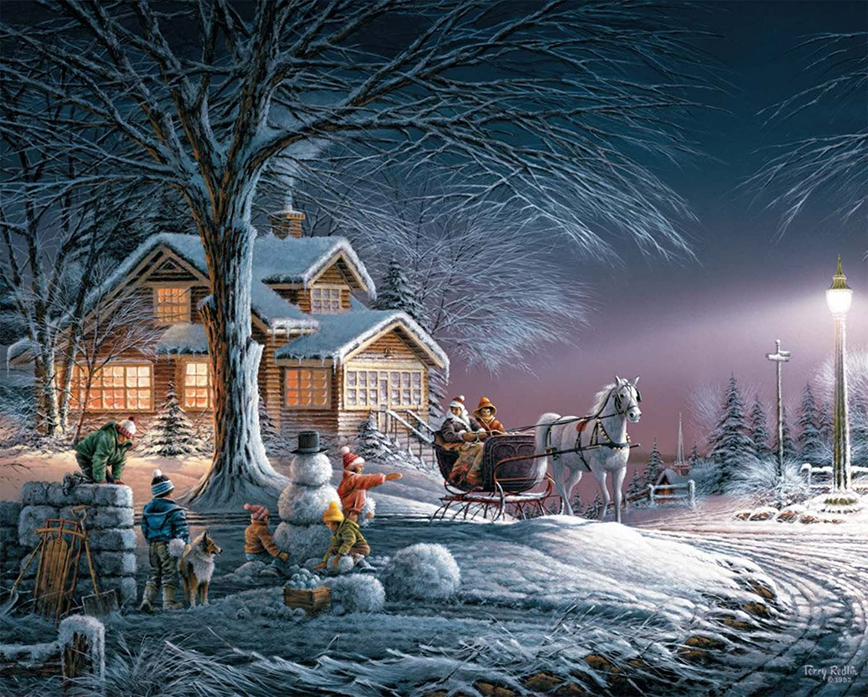 White Mountain Puzzles Winter Wonderland  1000 Piece Jigsaw Puzzle