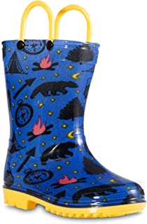 Chillipop Children's Rain Boots for Little Kids & Toddlers, Boys & Girls