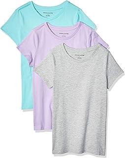 Amazon Essentials Camisetas de Manga Corta Niñas, Pack de 3