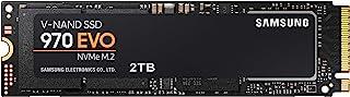 Samsung 970 EVO 2TB - NVMe PCIe M.2 2280 SSD (MZ-V7E2T0BW), Black/Red