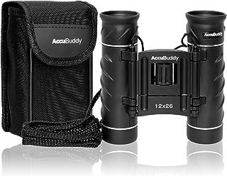 AccuBuddy Mini HD Prismáticos - Binoculares Ligeros de 12