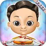 レストラン ハンバーガー、バーベキュー串、アイスクリームや飲み物:食べ物を準備!子供と女の子のための教育ゲーム - 無料ゲーム