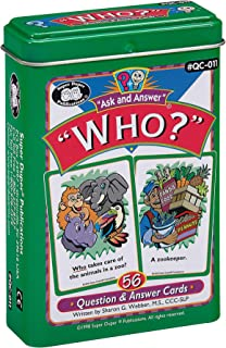 "Ask and Answer ""Who?"" Questions Flash Card Deck - Super Duper Publications Educational Learning Resource for Children"