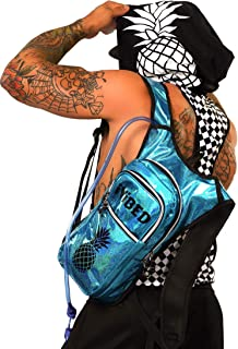 IVIBED Mens Holographic Rave Hydration Bag - EDM Backpacks Water Bags Festival Hydro