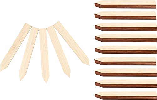 discount Plant Labels - Bamboo Wooden popular Garden Tags sale - (50 Pieces, 15 cm x 2 cm) online